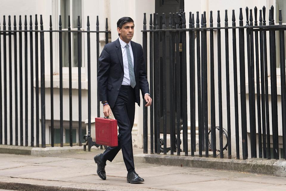 Chancellor Rishi Sunak heads to the Commons to deliver his budget (Photo: Press Association)