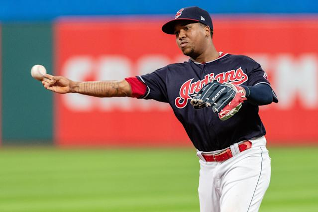 """Fantasy players who draft <a class=""""link rapid-noclick-resp"""" href=""""/mlb/players/9507/"""" data-ylk=""""slk:Jose Ramirez"""">Jose Ramirez</a> will hope for a repeat (or better) of his 2018 season. (Photo by Jason Miller/Getty Images)"""