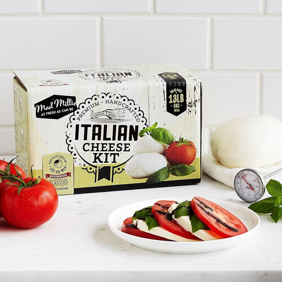 <p>It would be so fun to use this <span>Italian Cheesemaking Kit</span> ($29).</p>
