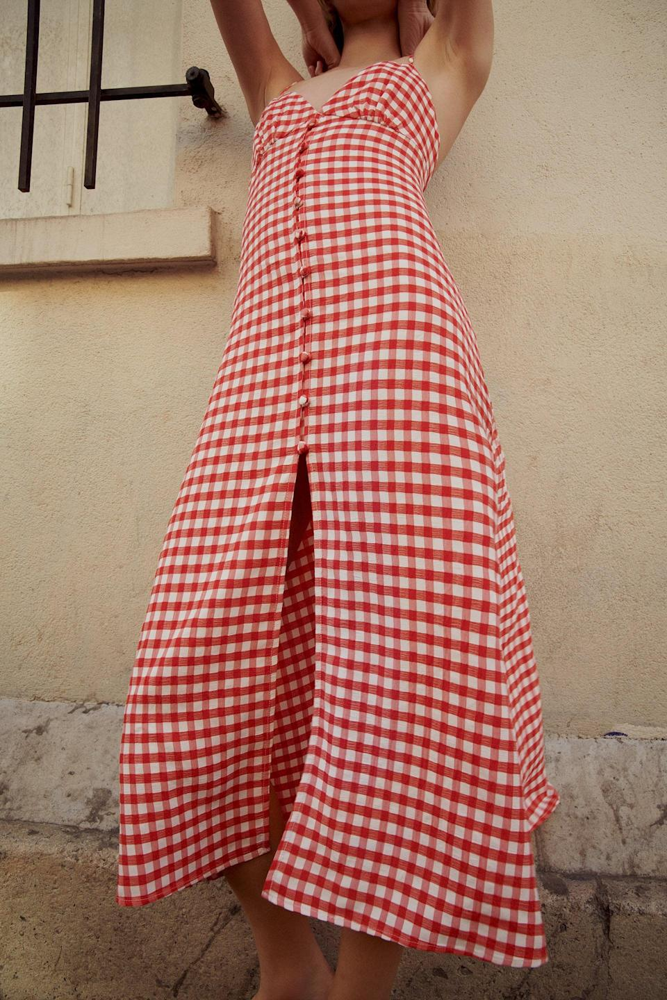 <p>This <span>Zara Strappy Gingham Dress</span> ($50) will go out of stock crazy quickly.</p>
