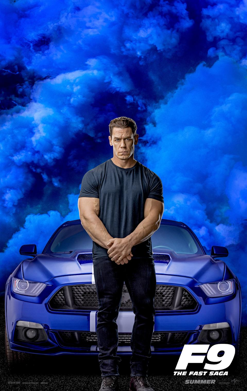 John Cena gets a character poster for 'Fast & Furious 9'. (Credit: Universal)