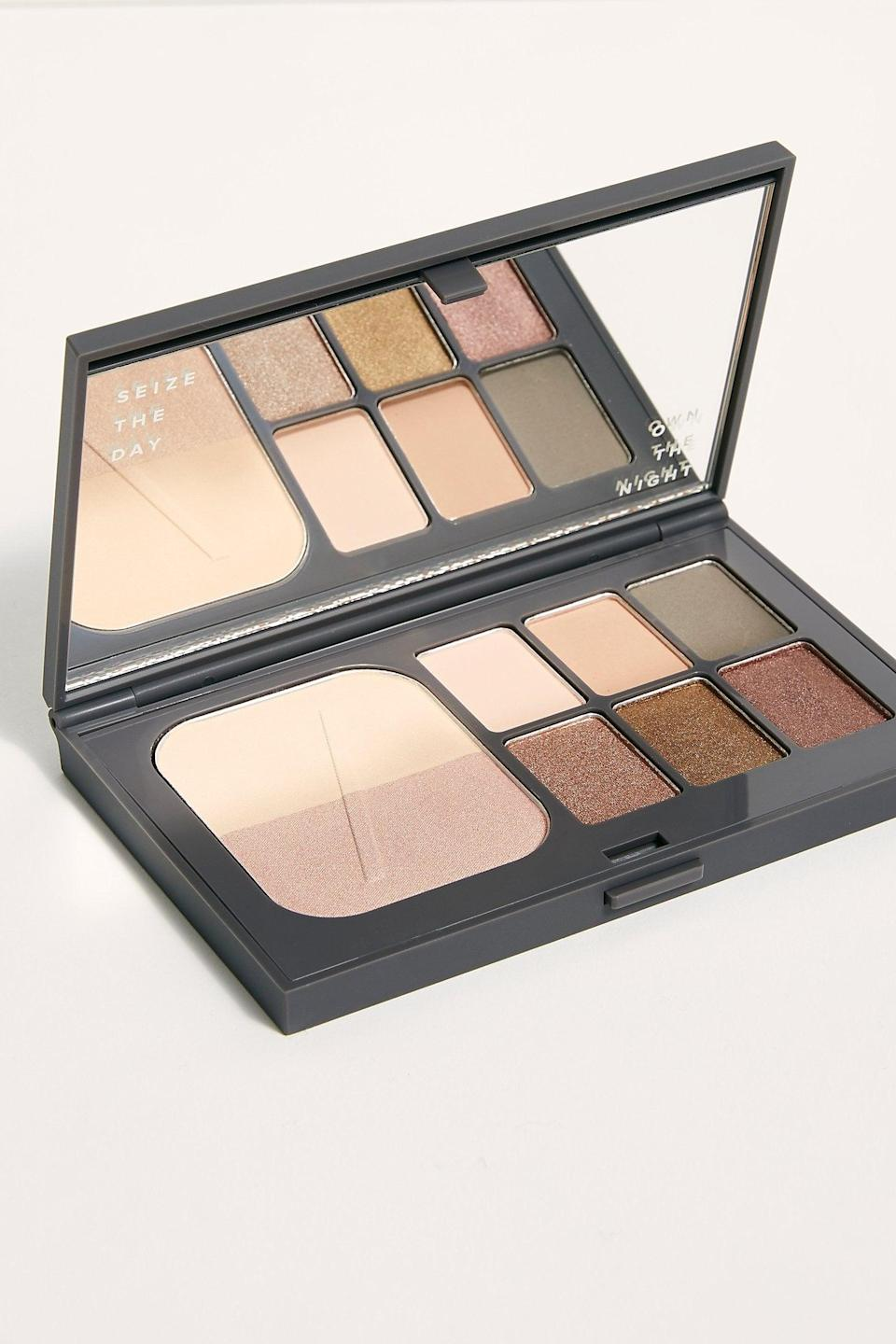 """<p>This <a href=""""https://www.popsugar.com/buy/PYT-Beauty-BS-Eyeshadow-Palette-527155?p_name=PYT%20Beauty%20No%20BS%20Eyeshadow%20Palette&retailer=freepeople.com&pid=527155&price=32&evar1=fab%3Aus&evar9=45460327&evar98=https%3A%2F%2Fwww.popsugar.com%2Ffashion%2Fphoto-gallery%2F45460327%2Fimage%2F46978005%2FPYT-Beauty-No-BS-Eyeshadow-Palette&list1=shopping%2Cgifts%2Cfree%20people%2Choliday%2Cgift%20guide%2Cgifts%20for%20women&prop13=api&pdata=1"""" class=""""link rapid-noclick-resp"""" rel=""""nofollow noopener"""" target=""""_blank"""" data-ylk=""""slk:PYT Beauty No BS Eyeshadow Palette"""">PYT Beauty No BS Eyeshadow Palette</a> ($32) is perfect to carry in their purse.</p>"""