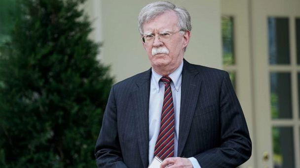 PHOTO: White House National Security Advisor John Bolton talks to reporters outside of the White House West Wing April 30, 2019 in Washington, DC. (Chip Somodevilla/Getty Images)