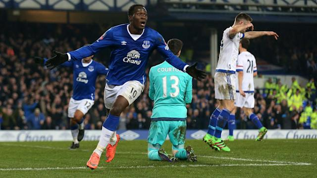 Romelu Lukaku celebrated his goals sending Everton through to the FA Cup semi-finals and did not feel he had a score to settle with Chelsea.