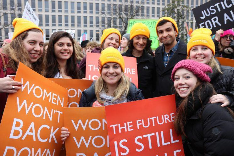 Emily's List supporters at the Women's March on Washington in January 2017. (Photo: Emily's List)