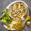 """<p>There's no easier way to please a crowd than with this warm, gooey dip. We use <a href=""""https://www.goodhousekeeping.com/food-recipes/easy/g32160791/leftover-rotisserie-chicken-recipes/"""" rel=""""nofollow noopener"""" target=""""_blank"""" data-ylk=""""slk:rotisserie chicken"""" class=""""link rapid-noclick-resp"""">rotisserie chicken</a> so it's a cinch to put together in time for the picnic.</p><p><em><a href=""""https://www.goodhousekeeping.com/food-recipes/a19738/buffalo-chicken-dip/"""" rel=""""nofollow noopener"""" target=""""_blank"""" data-ylk=""""slk:Get the recipe for Buffalo Chicken Dip »"""" class=""""link rapid-noclick-resp"""">Get the recipe for Buffalo Chicken Dip »</a></em></p>"""