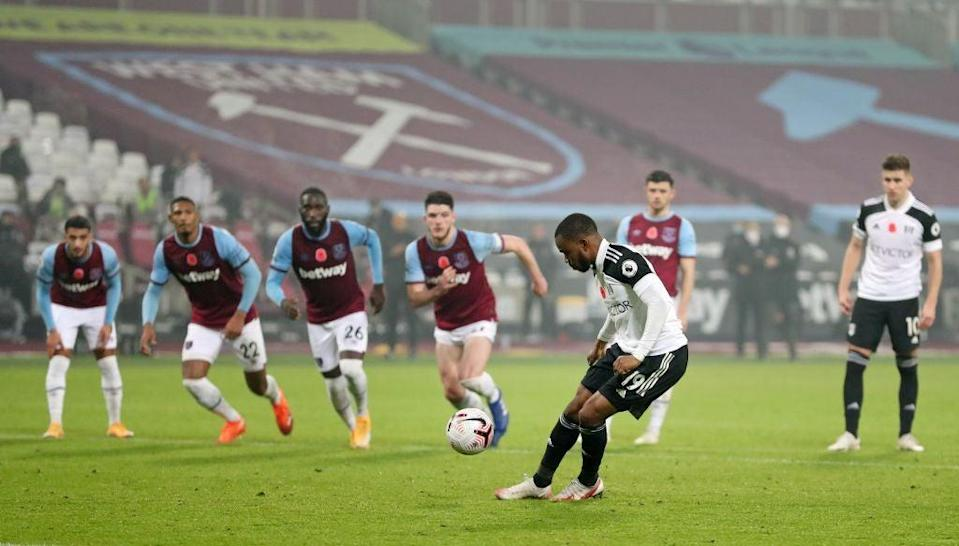 Lookman missed his penalty for Fulham (POOL/AFP via Getty Images)
