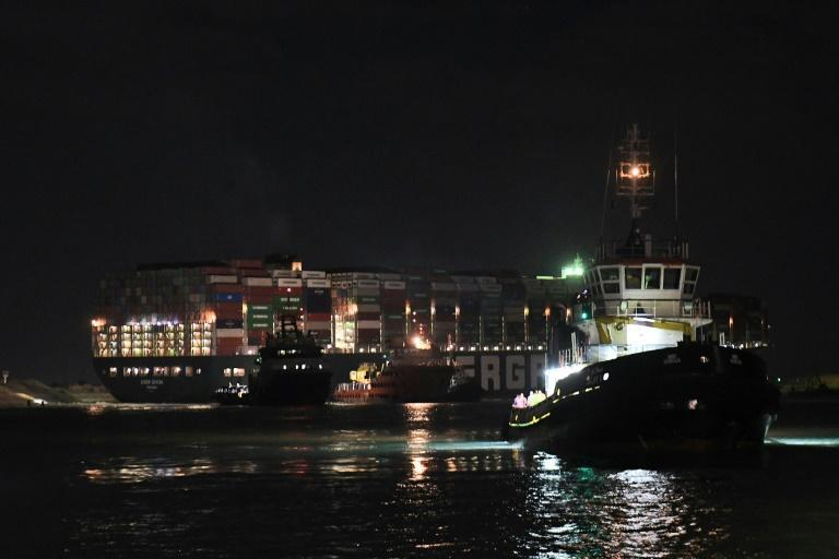 The Panamanian-flagged MV Ever Given ran aground on Tuesday