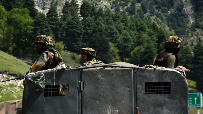 Indian and Chinese troops are facing off in the Himalayas