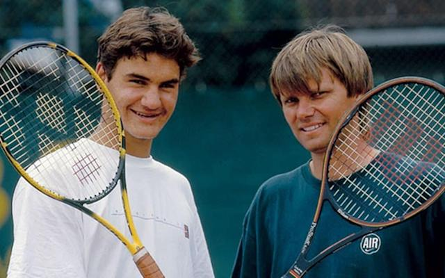 Peter Carter (right) was the coach who made Roger Federer the player he is today
