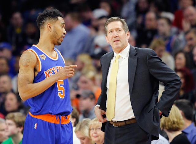 "Jeff Hornacek prepares to unleash a string of expletives more foul than any <a class=""link rapid-noclick-resp"" href=""/nba/players/4484/"" data-ylk=""slk:Courtney Lee"">Courtney Lee</a> has ever heard. (AP)"