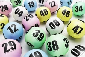Multicoloured lottery or bingo balls
