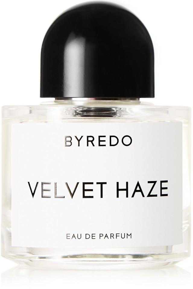 "<p>Byredo fragrances are the ultimate indulgence, and Velvet Haze is my favourite for autumn. The heady musk and patchouli notes are lightened with dashes of coconut and cacao. </p><p><a class=""body-btn-link"" href=""https://go.redirectingat.com?id=127X1599956&url=https%3A%2F%2Fwww.net-a-porter.com%2Fgb%2Fen%2Fproduct%2F1037787&sref=http%3A%2F%2Fwww.cosmopolitan.com%2Fuk%2Fbeauty-hair%2Fg23448484%2Fnet-a-porter-beauty-products%2F"" target=""_blank"">buy now</a></p>"