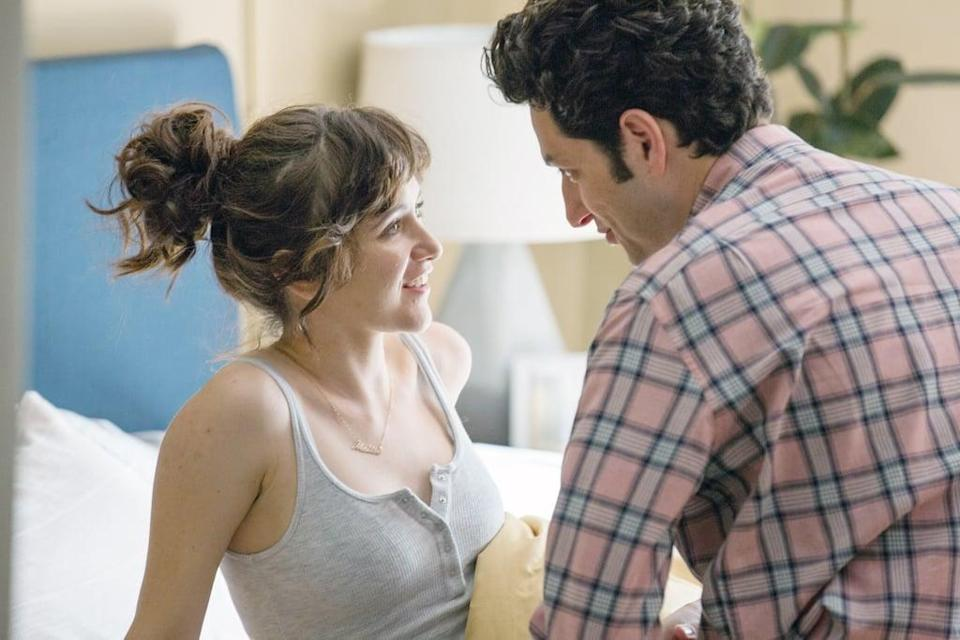 """<p>While we love our light and breezy romantic comedies, <strong>Happy Anniversary</strong> is a refreshing look at what happens after the meet-cute. Sam and Molly, like many who find themselves in long-term relationships, struggle to accept the idea that love isn't just grand, romantic gestures and passion - it's hard work, tears, and struggle, but still a lot of laughs. Also, Ben Schwartz and Noël Wells - who you may better known as Jean-Ralphio on <strong>Parks and Recreation</strong> and Rachel on <strong>Master of None</strong> - are actually perfect together. </p> <p><a href=""""http://www.netflix.com/title/80143362"""" class=""""link rapid-noclick-resp"""" rel=""""nofollow noopener"""" target=""""_blank"""" data-ylk=""""slk:Watch Happy Anniversary on Netflix now."""">Watch <strong>Happy Anniversary</strong> on Netflix now.</a></p>"""