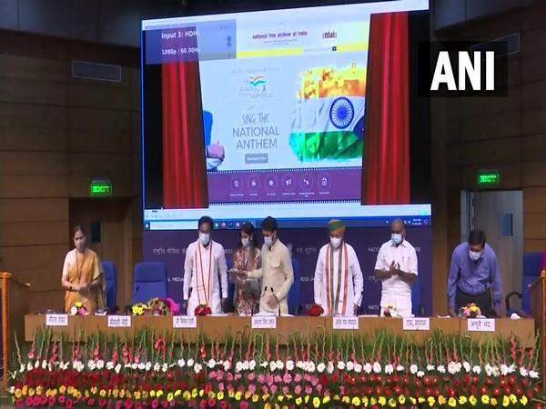 Visual of Union Ministers at the launch of the exhibition (Photo/ANI)