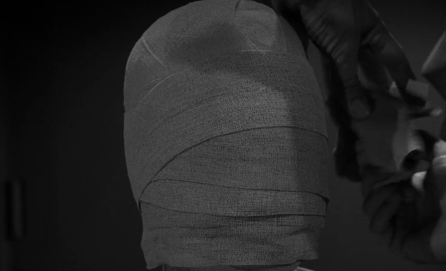 What horrors lie beneath the bandages in the 'Eye of the Beholder' episode of 'The Twilight Zone'? (Photo: CBS/Netflix)