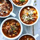 <p>This healthy vegetarian chili has a fragrant touch of cinnamon for added flavor. Let diners top it with whatever suits their taste.</p>