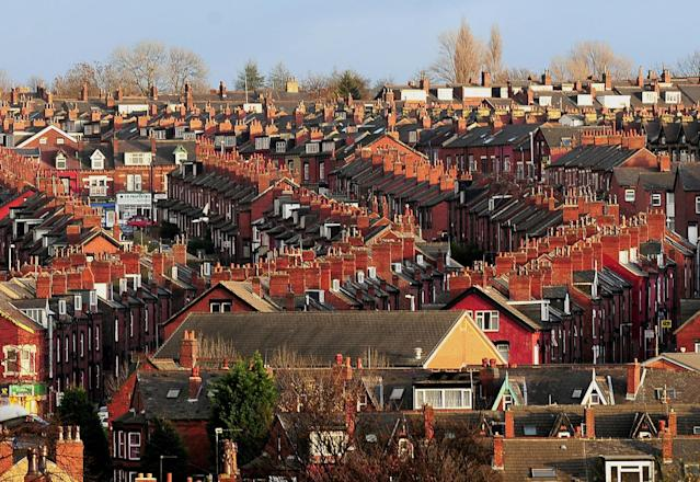Homes in Leeds amid warnings of a downturn in the UK property market from Zoopla. (PA)