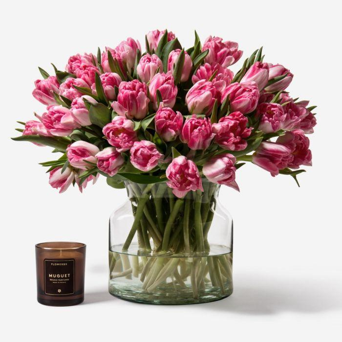 Princess Pink Double Tulips (Credit: Flowerbx)