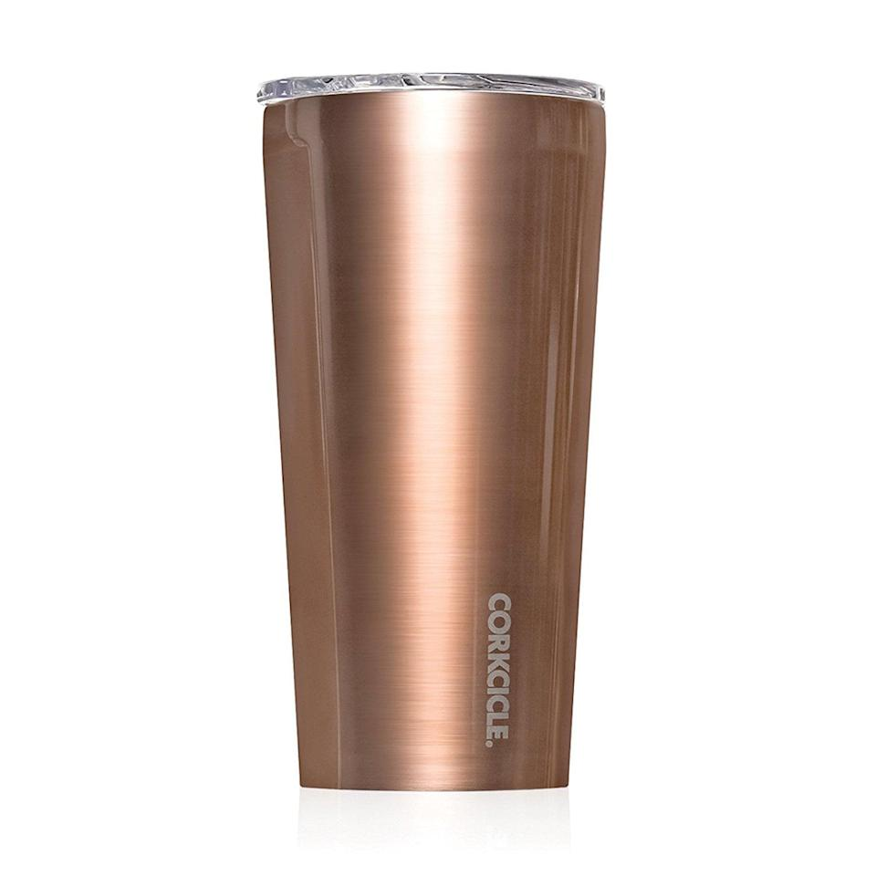<p>No matter their drink of choice in the morning, they can hop on the bus whether it's hot or cold, thanks to this stylish <span>Corkcicle Insulated Tumbler</span> ($30).</p>