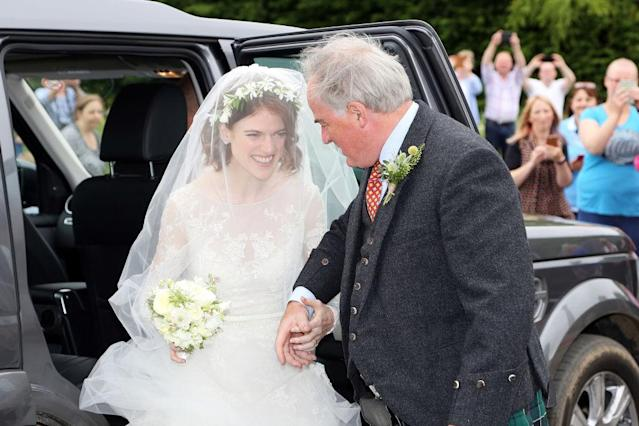 Rose Leslie and her father. (Photo: Getty Images)