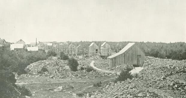 The Montague gold mine as seen in 1911. (Nova Scotia Archives - image credit)