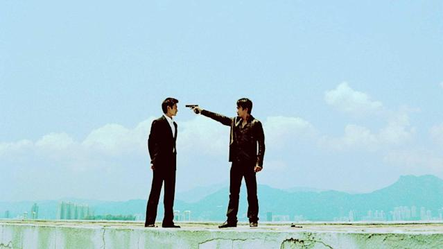 Andy Lau and Tony Leung in 'Infernal Affairs' (credit: Basic Pictures)