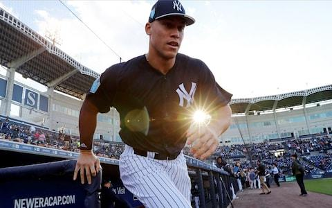 Aaron Judge runs out of dugout - Credit: GETTY IMAGES
