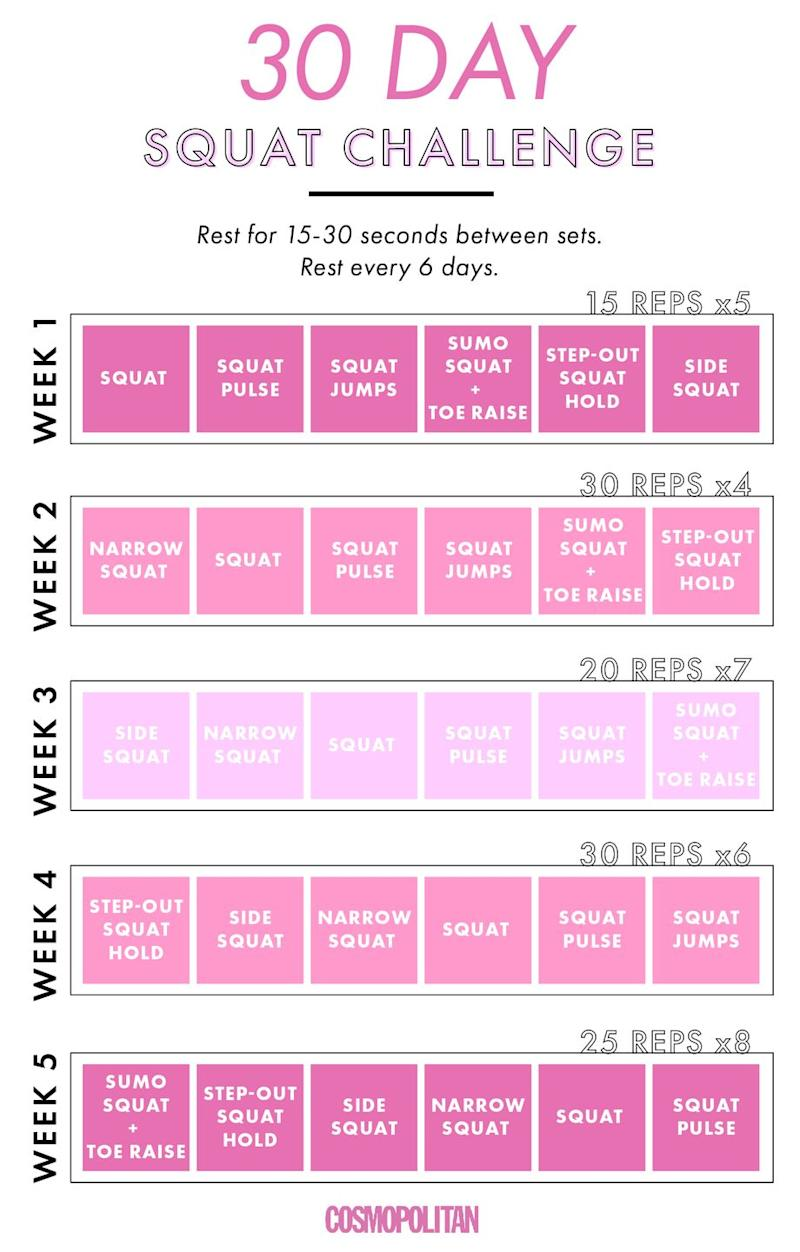 This 30-Day Squat Challenge Will Turn Your Butt into the