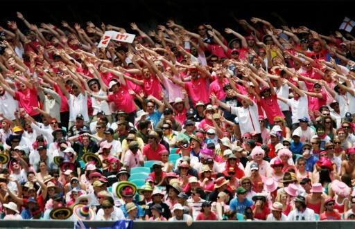 England fans went pink in support of the McGrath Foundation in Sydney in 2011 and will have the chance in another Ashes Test on Ruth Strauss deay at Lord's