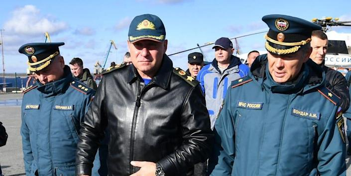 Russia's Emergency Situations Minister Yevgeny Zinichev