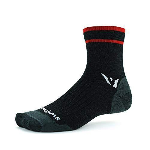 "<p><strong>Swiftwick</strong></p><p>amazon.com</p><p><strong>$19.99</strong></p><p><a href=""https://www.amazon.com/dp/B08DYDYHF5?tag=syn-yahoo-20&ascsubtag=%5Bartid%7C10055.g.34828090%5Bsrc%7Cyahoo-us"" rel=""nofollow noopener"" target=""_blank"" data-ylk=""slk:Shop Now"" class=""link rapid-noclick-resp"">Shop Now</a></p><p>When you're investing in a running sock, you'll want something that's going to last. Swiftwick's Pursuit Ultralight is designed to carry you from season to season, for many seasons. <strong>Lightweight Merino wool offers temperature control for warmer winters and cooler summers, while a reinforced heel and toe make for a sturdy, lasting construction.</strong> In addition to the quarter crew shown here, this sock comes in three cuff height options: <a href=""https://www.amazon.com/Swiftwick-PURSUIT-Ultralight-Running-Heather/dp/B08DYFCW6N?tag=syn-yahoo-20&ascsubtag=%5Bartid%7C10055.g.34828090%5Bsrc%7Cyahoo-us"" rel=""nofollow noopener"" target=""_blank"" data-ylk=""slk:no-show"" class=""link rapid-noclick-resp"">no-show</a>, <a href=""https://www.amazon.com/Swiftwick-PURSUIT-Ultralight-Running-Heather/dp/B08DYCRJ5J?tag=syn-yahoo-20&ascsubtag=%5Bartid%7C10055.g.34828090%5Bsrc%7Cyahoo-us"" rel=""nofollow noopener"" target=""_blank"" data-ylk=""slk:ankle"" class=""link rapid-noclick-resp"">ankle</a> and <a href=""https://www.amazon.com/Swiftwick-PURSUIT-Ultralight-Cycling-Mountain/dp/B08DYF87KG?tag=syn-yahoo-20&ascsubtag=%5Bartid%7C10055.g.34828090%5Bsrc%7Cyahoo-us"" rel=""nofollow noopener"" target=""_blank"" data-ylk=""slk:crew"" class=""link rapid-noclick-resp"">crew</a>.</p><p>The sock doesn't have any extra padding, which, along with ventilation along the top of the foot, gives it a nice air flow. They do, however, feel a bit thicker than synthetic socks do, thanks to their wool makeup. Combined with the moisture-pulling properties of the wool, these socks will keep your feet dry and blister-free.</p>"