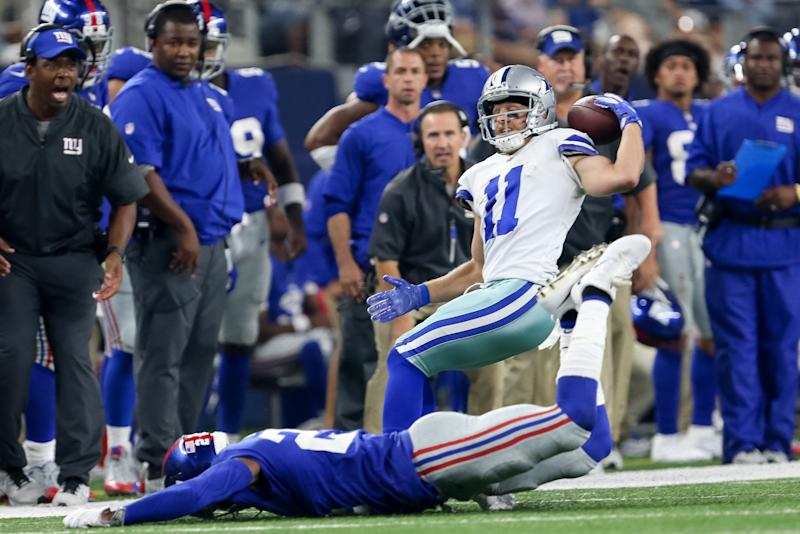 Cole Beasley made his sensational catch in the fourth quarter. (Icon Sportswire via Getty Images)
