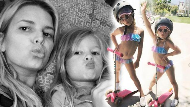 Jessica Simpson has been criticized for posting photos of her daughter in a bikini online. (Photo: Instagram/Jessica Simpson)
