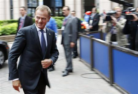 Poland's PM Tusk arrives at European Union leaders summit in Brussels