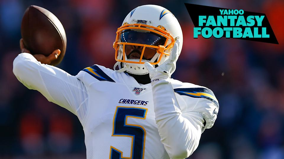Tyrod Taylor is currently the starting quarterback for the Los Angeles Chargers, but will he be at the beginning of the season? (Photo by Justin Edmonds/Getty Images)