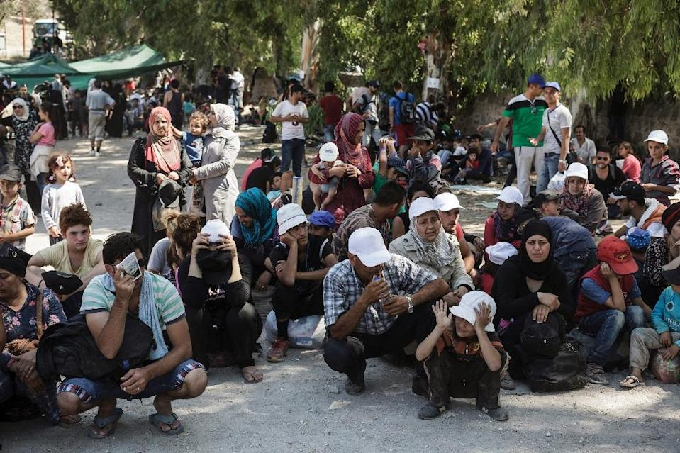 Over 40 percent of the people currently seeking asylum in Europe are from Syria (AFP Photo/Achilleas Zavallis)