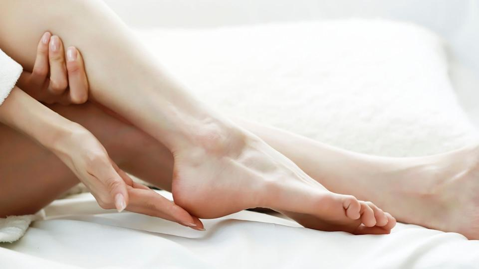 Get softer feet at home with the Elobara Foot Peel Mask.  (Image via Getty Images)