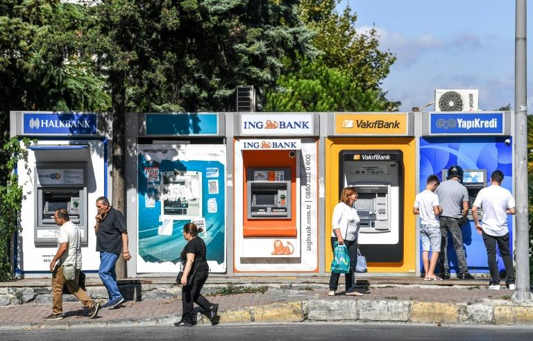 Automated teller machines (ATM) operated by Turkish banks which have been rattled by the dispute with NATO ally Washington over the detention of an American pastor