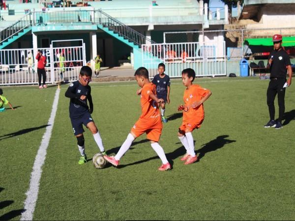 Kids playing at Champhai Golden baby League (Photo/ AIFF)