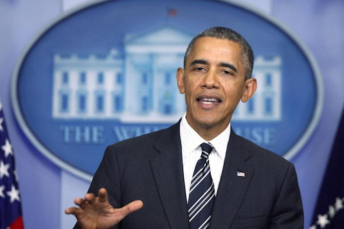 In this Sept. 27, 2013, file photo, President Barack Obama speaks in the James Brady Press Briefing Room at the White House in Washington, after he spoke by telephone earlier in the day with Iranian President Hassan Rouhani in the first conversation between American and Iranian leaders in more than 30 years. The U.S. and Iran secretly engaged in high-level, face-to-face talks, at least three times over the past year, in a high stakes diplomatic gamble by the administration that paved the way for the historic deal aimed at slowing Iran's nuclear program. (AP Photo/Charles Dharapak)