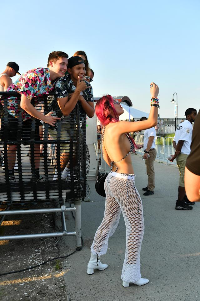 Bella Thorne shares her racy fashion with her adoring fans. (Photo: Getty Images)