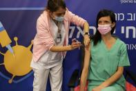 Israelis get vaccinated against COVID-19