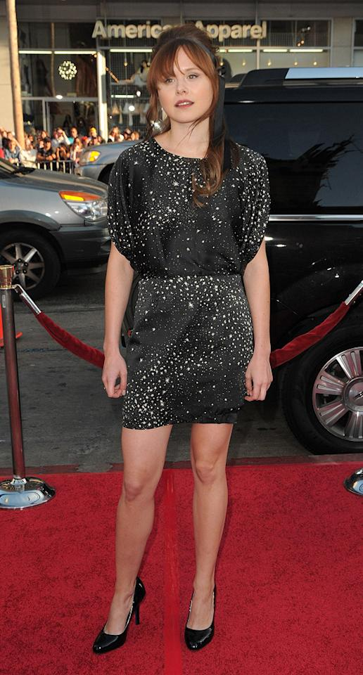 """<a href=""""http://movies.yahoo.com/movie/contributor/1800316442"""">Alison Pill</a> at the Los Angeles premiere of <a href=""""http://movies.yahoo.com/movie/1810070753/info"""">Scott Pilgrim vs. the World</a> - 07/27/2010"""
