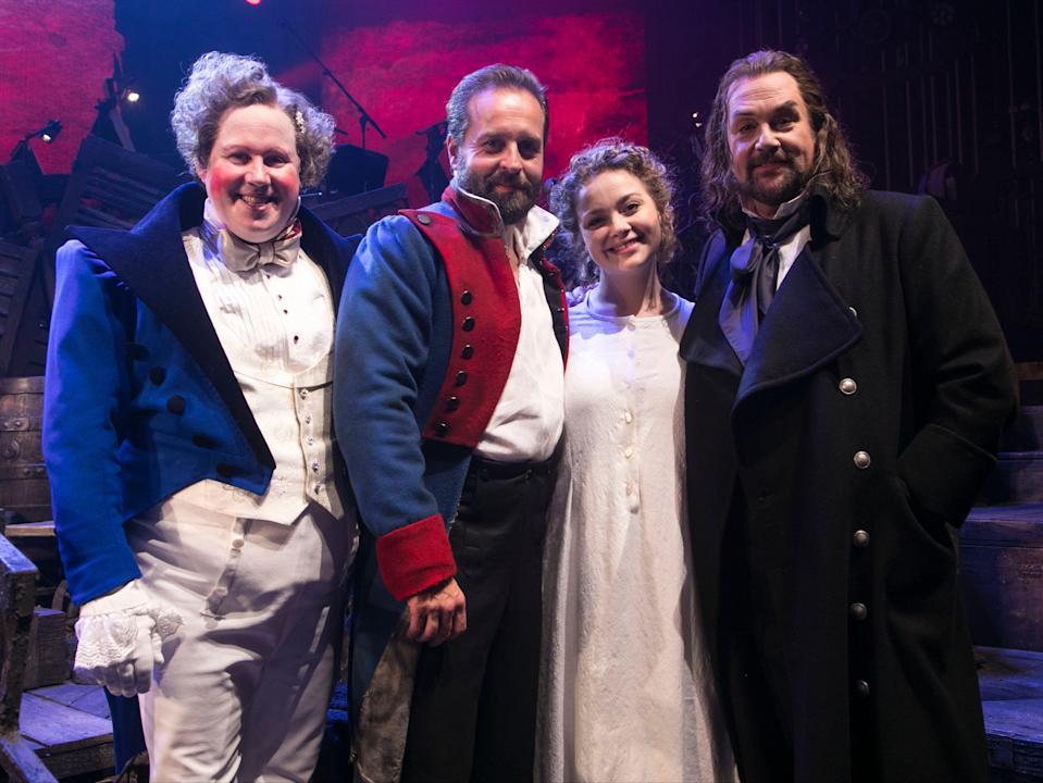 The cast of 'Les Misérables – The Staged Concert' (Rex Features)