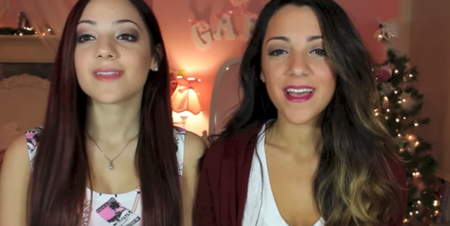 A screenshot from a video of Niki and Gabi filmed four years ago. (Photo: YouTube)
