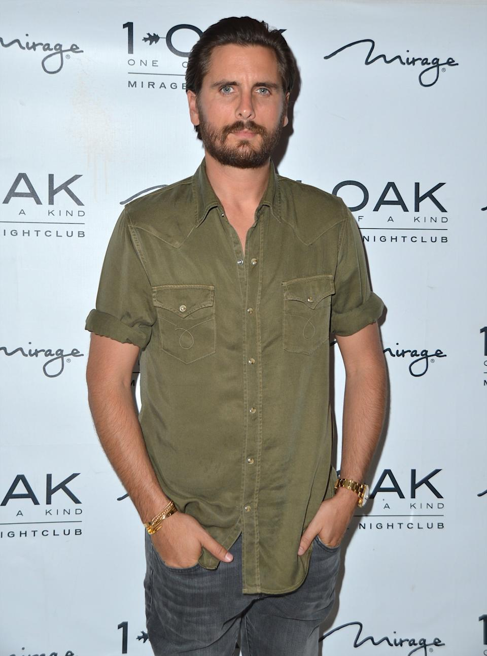 Television personality Scott Disick arrives at 1 OAK Nightclub at The Mirage Hotel & Casino on June 27, 2015 in Las Vegas, Nevada.