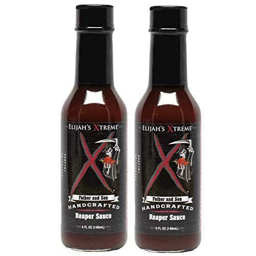 """<p><strong>Elijah's Xtreme</strong></p><p>amazon.com</p><p><strong>$18.95</strong></p><p><a href=""""https://www.amazon.com/dp/B0733VMQP8?tag=syn-yahoo-20&ascsubtag=%5Bartid%7C1782.g.27320819%5Bsrc%7Cyahoo-us"""" rel=""""nofollow noopener"""" target=""""_blank"""" data-ylk=""""slk:BUY NOW"""" class=""""link rapid-noclick-resp"""">BUY NOW</a></p><p>You'll find Carolina Reapers, one of the world's hottest peppers in this hot sauce, which measures between 250,000 and 1 million SHU. But it's got a hit of sweetness, too, thanks to sweet black cherries and cranberries.</p>"""