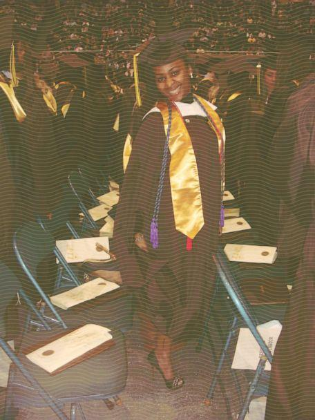PHOTO: Melissa Jean-Baptiste stands before walking onto the stage to get her diploma during her college graduation in 2010. (Melissa Jean-Baptiste)