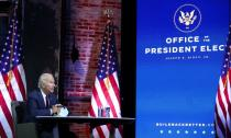 FILE PHOTO: U.S. President-elect Joe Biden attends national security briefing in Wilmington, Delaware